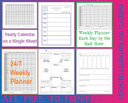 free printable monthly weekly daily calendars u0026 planners student