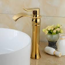 Gold Bathroom Fixtures by Aliexpress Com Buy Bakala Gold Bathroom Faucets Waterfall
