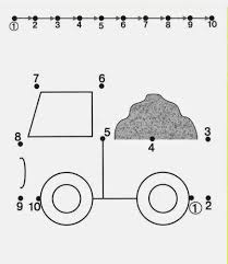 connect dot to truck free printable activities for toddlers