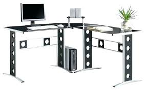 Black Glass L Shaped Desk Black Glass L Shaped Computer Desk Tempered Brand New Sint Maarten