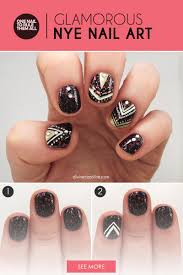 an oh so glamorous nail design to celebrate the new year more com