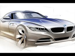 2009 bmw z4 roadster design sketch front angle 1920x1440
