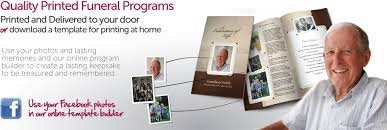 where to print funeral programs funeral programs printing using our premium designs