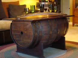 whiskey barrel side table decorating refinishing wine barrels wine table stand vintage wine