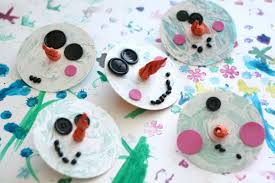 cd snowman ornaments for toddlers happy hooligans