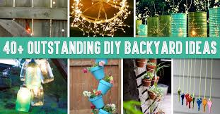 creative of diy backyard decorating ideas 40 outstanding diy