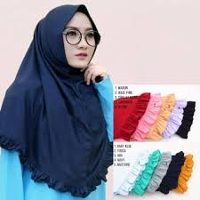 Kerudung Murah jilbab kerudung instan najwa jilbab kaos katun tc premium