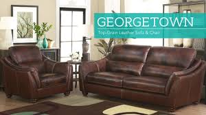 2 Piece Leather Sofa by Georgetown 2 Piece Top Grain Leather Set Sofa And Chair Video