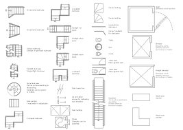 spiral staircase floor plan design elements building building vector stencils