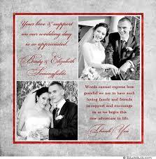 wedding thank you photo wedding thank you card square silver gray