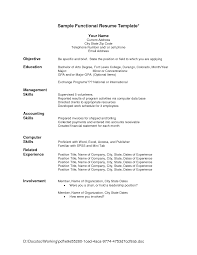 Resume Sample Management Skills jobstar resume guide template for functional resumes functional