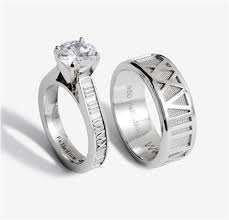 numeral ring stackable numeral ring with diamond solitaire