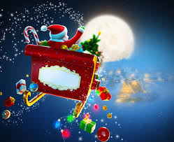 new year merry christmas toy snow full moon santa u0027s sleigh santa