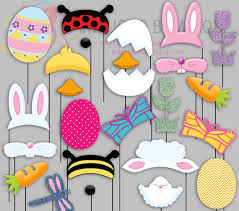 easter photo props easter party photo booth props bunny bugs by irajojobowtique