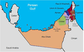 map of the uae map of uae major tourist attractions maps