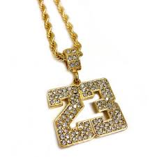 gold plated necklace pendants images Number 23 pendant necklace jpg