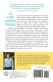 the one good thing a novel kevin alan milne 9781455510085