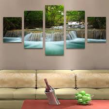 Living Room Art Canvas by No Frame 5 Pcs Waterfall Painting Canvas Wall Art Picture Home