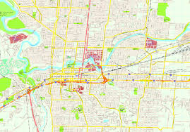Map Of Spokane United Illustrator Eps City U0026 Country Maps Part 6