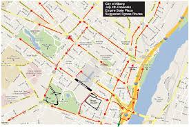 Map Of Albany New York by Fourth Of July Fireworks Albany Road Closures Parking Restrictions