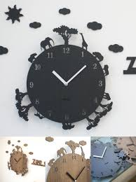 Modern Bedroom Wall Clocks Visit To Buy Creative Cartoon Animal Clock Bedroom Mute 12 Inch