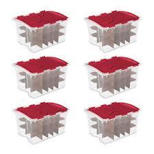 sterilite 6 pack 48 quart hinged lid 270 total ornament