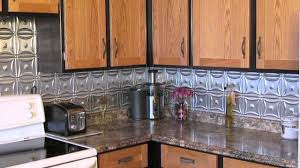 metal backsplash improved our kitchen youtube