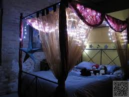 Four Poster Bed Curtains Drapes Best 25 Bed Canopy Lights Ideas On Pinterest Teen Canopy Bed