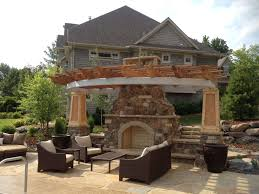 decorations fantastic structure stone outdoor fireplace decor