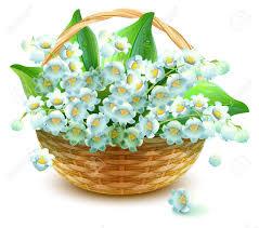 basket of flowers wicker basket of flowers flower valley bouquet of