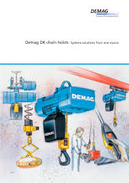 demag dk chain hoists systems solutions from one source demag