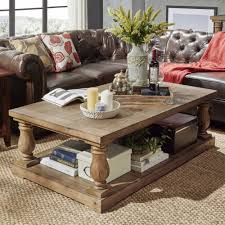 Pine Side Tables Living Room Inspire Q Edmaire Rustic Baluster Weathered Pine 55 Inch Coffee