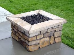 Square Firepit Custom Square Gas Pit