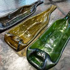 wine bottle serving tray upcycled wine bottle serving tray melted wine by lotsashimmer