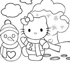 cat watching snow coloring page justinhubbard me