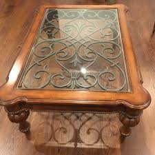 ethan allen glass coffee table ethan allen tuscan coffee table chairish