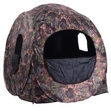 amazon com tangkula portable hunting blind pop up ground camo