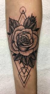 the 25 best geometric flower tattoos ideas on pinterest thigh