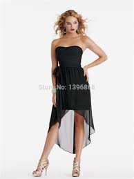 short front long back bridesmaid dress 2014 latest elegant black