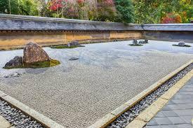 Ryoanji Rock Garden Zen Rock Garden In Ryoanji Temple In Kyoto Stock Photo