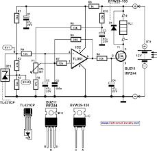 lead acid battery regulator for solar panel systems circuit diagram