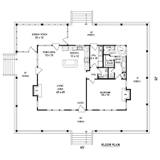A 1 Story House 2 Bedroom Design One Bedroom 1 5 Bath Cabin With Wrap Around Porch And Screened