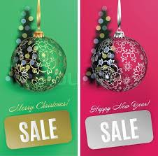 vector christmas card set sale background with ball stripe