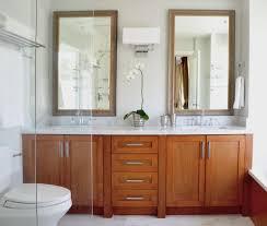 bronze framed mirror bathroom transitional with ornate barrel