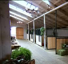 like the idea with the tack room in the corner and ready stalls