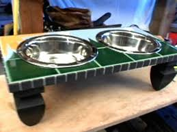 how to make a mosaic table top how to make a mosaic pet feeder table hgtv