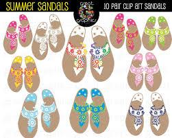 sandal clip art digital clip art sandals printable clip art