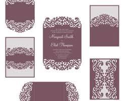 Tri Fold Wedding Invitations Template Roses Set Cricut Wedding Invitation Template Gate Fold