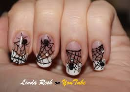 nail design spider on web nail art pen home made decals youtube