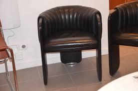 Leather Armchairs Vintage Poltrona Frau Pair Of Vintage Black Leather Armchairs Dinette By